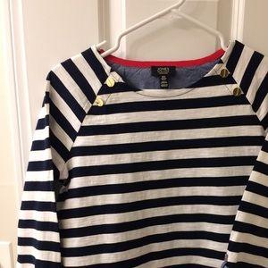 Nautical- (Sailor-) Themed 3/4 Sleeve Tee Ladies M